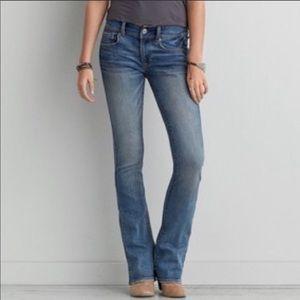 American eagle true boot blue jeans